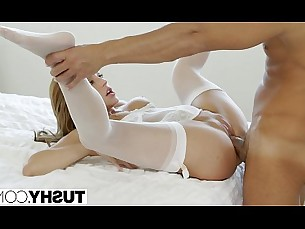 stockings,facial,blowjob,brunette,riding