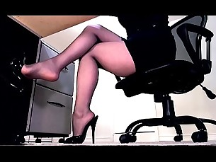boots,lingerie,tease,office,secretary